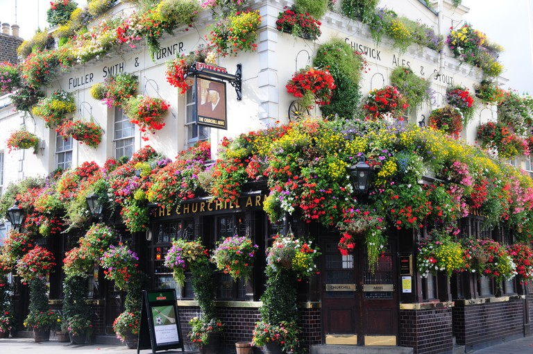 The Churchill Arms, Kensington Church Street, London.