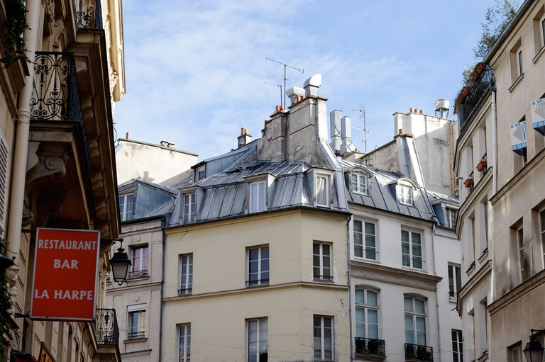 The old rooftops of the Latin quarter in Paris