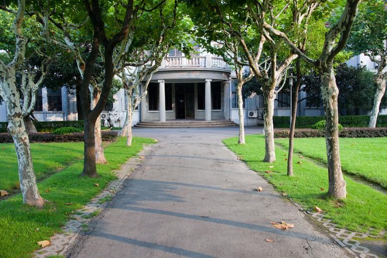 Campus of Fudan University, Shanghai, China.