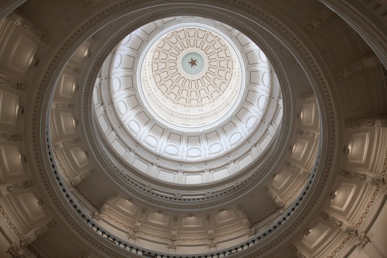 The interior of the dome is the most impressive part of the building