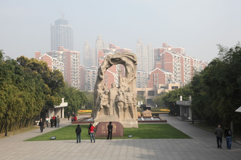 Monument at the Long Hua Martyrs' Cemetery in Shanghai, China.