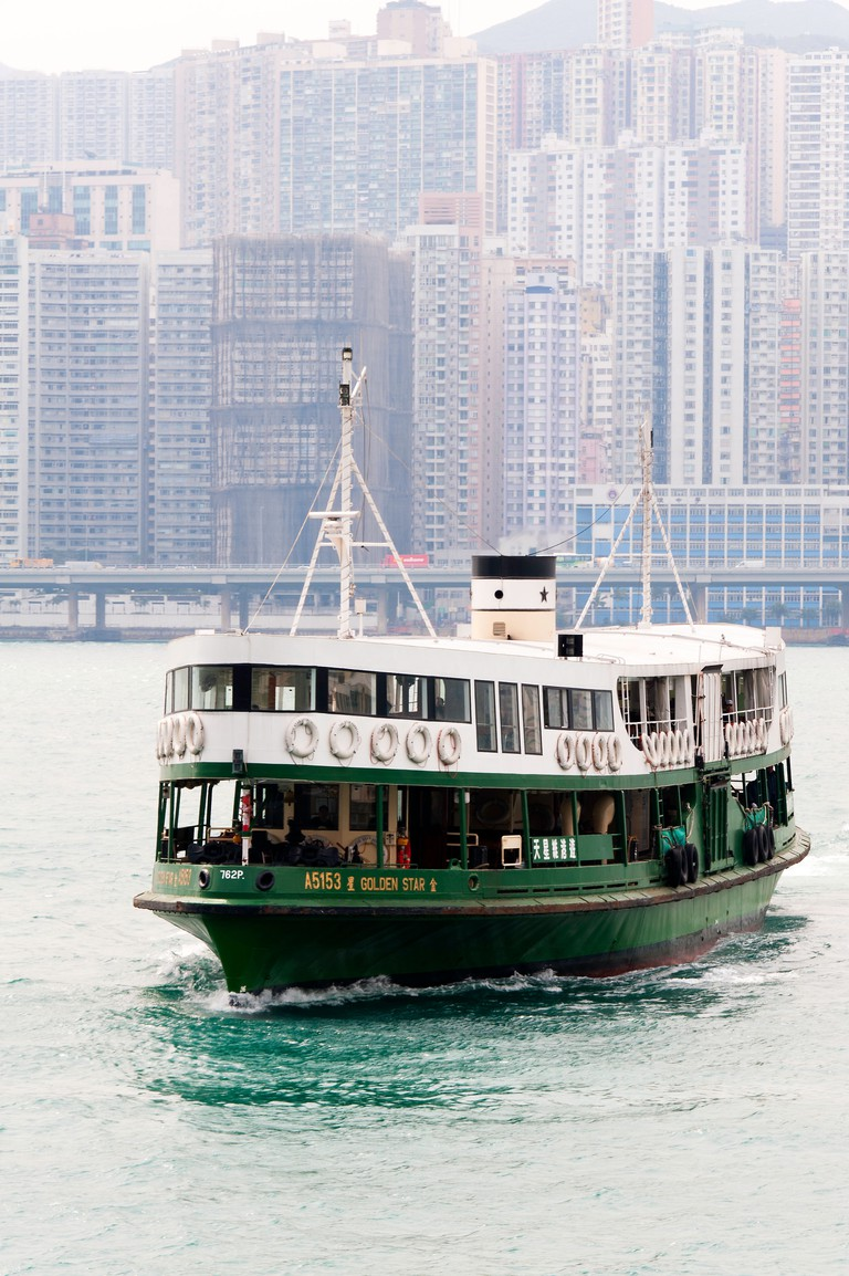 The Green and White Star Ferry Boat, Hong Kong.