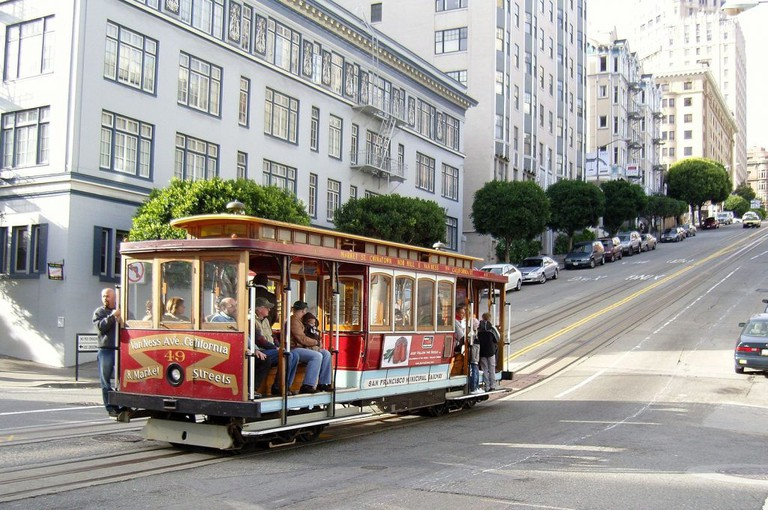 San Francisco cable car on California Street