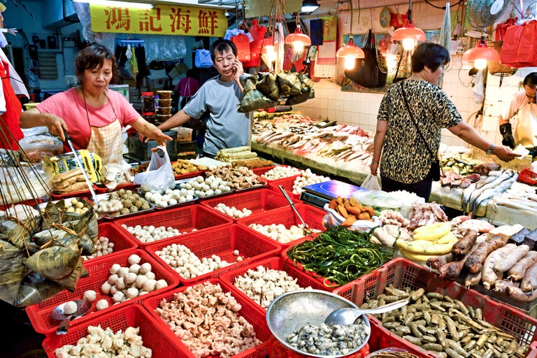 Bowrington Road street market in Causeway Bay Hong Kong Island China Chinese