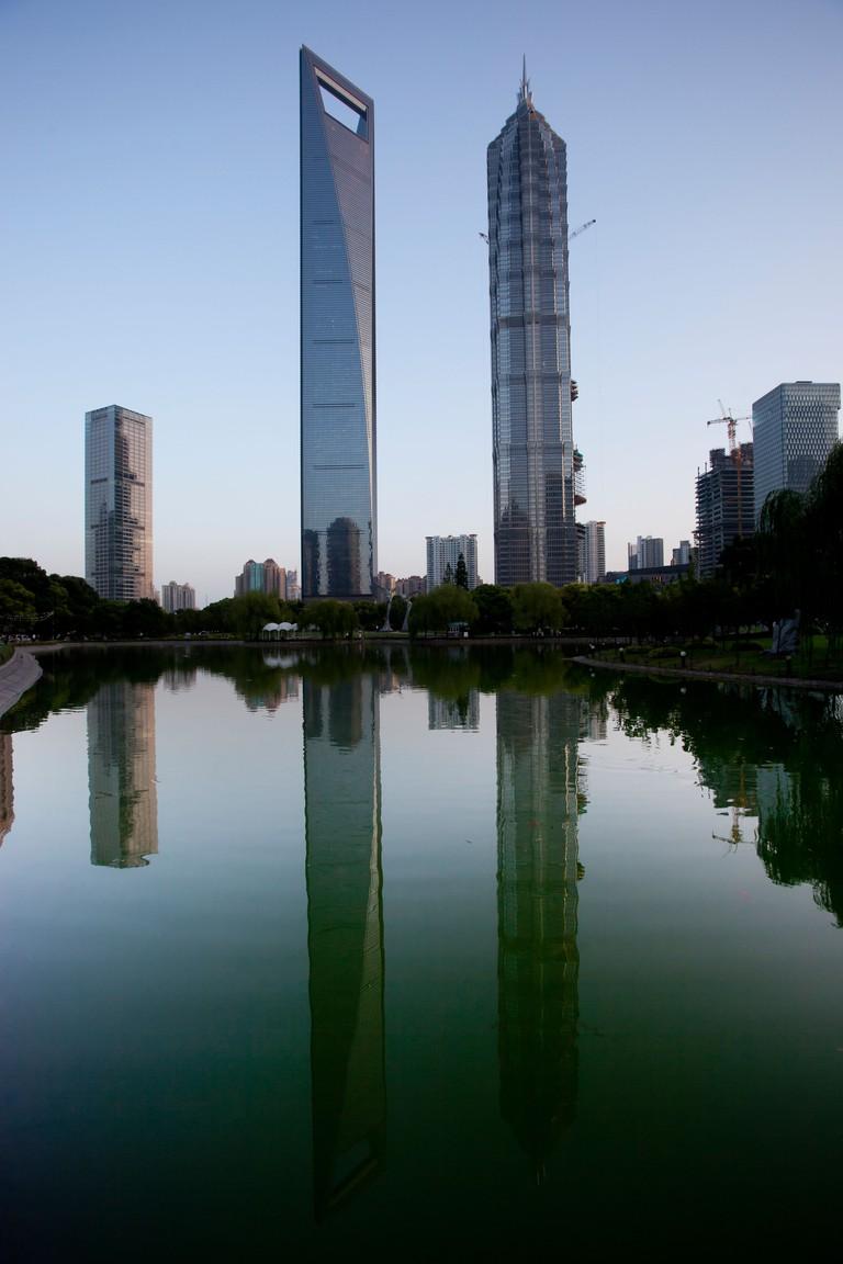 JinMao Tower and Shanghai World Financial Center