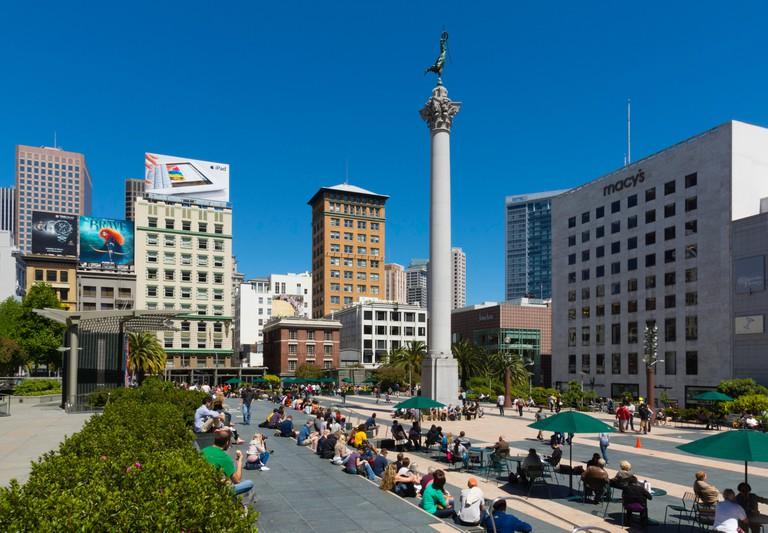 Union Square public park, San Francisco.