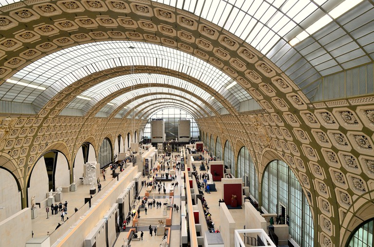 Interior of The Musee d'Orsay, Paris.