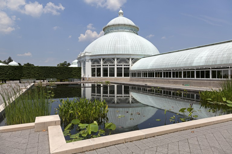 The Enid A. Haupt Conservatory of the Botanical Garden in the Bronx, New York City, USA.