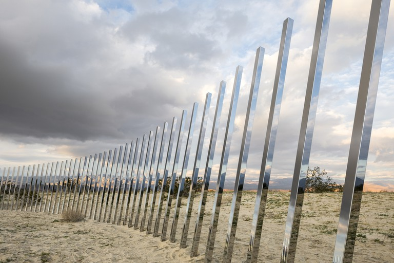 "Desert X installation of Phillip K.Smith III's ""The Circle of Land and Sky"""