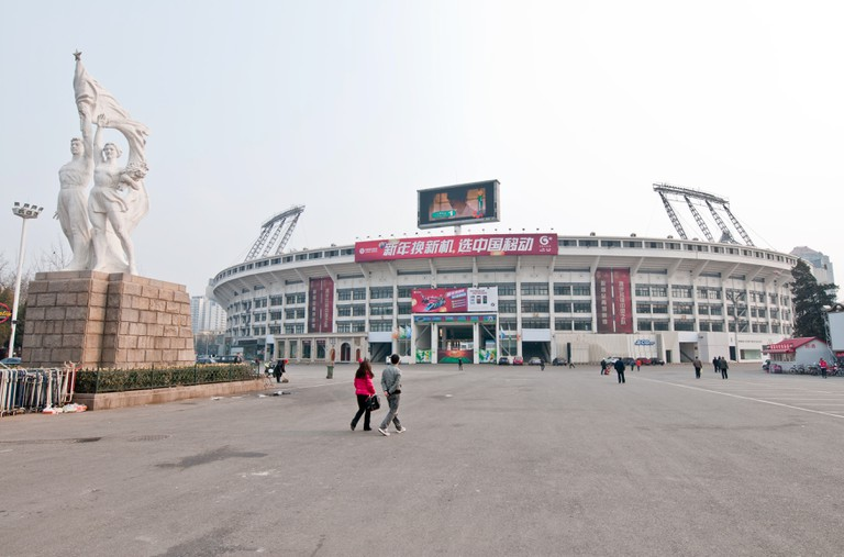 The Workers Stadium (in China often called Gongti or Gong Ti) in Chaoyang District, Beijing, China