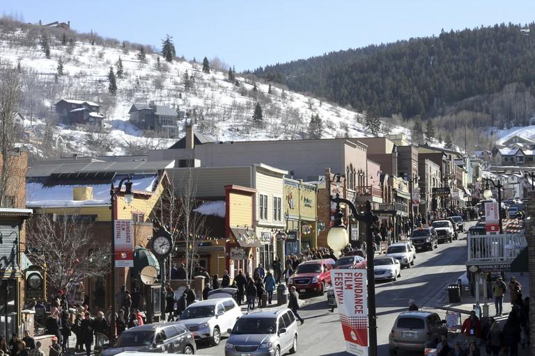 Main Street in Park City, UT, during the Sundance Film Festival.