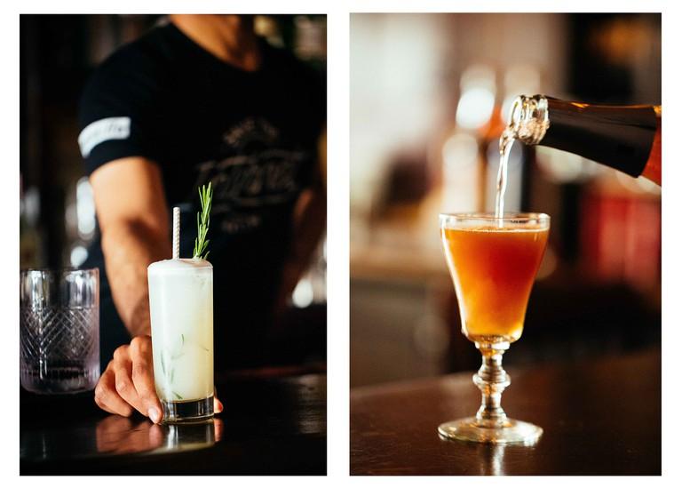 Drinks at 15 Romolo, San Francisco, California.