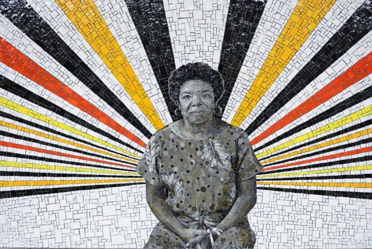 167th Street subway station in the Bronx. Maya Angelou. Art work © Rico Gatson