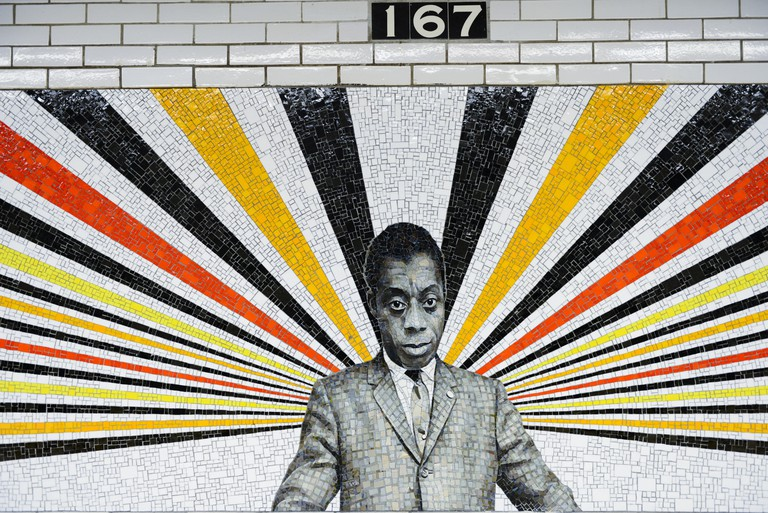 167th Street subway station in the Bronx. James Baldwin. Art work © Rico Gatson