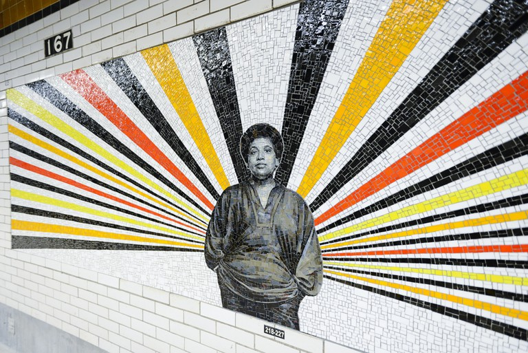167th Street subway station in the Bronx. Audre Lorde. Art work © Rico Gatson