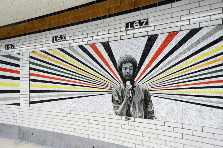 167th Street subway station in the Bronx. Gil Scott-Heron. Art work © Rico Gatson