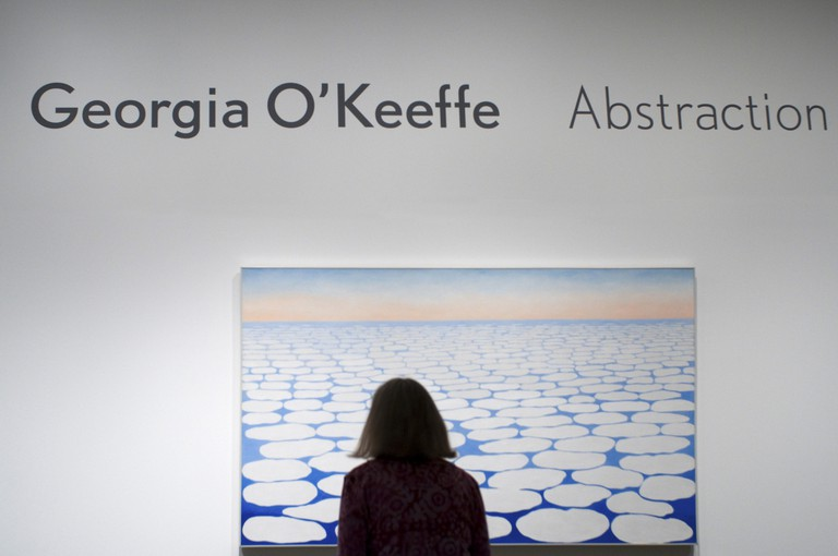 Georgia O'Keeffe Exhibition at the Whitney Museum of American Art, New York.