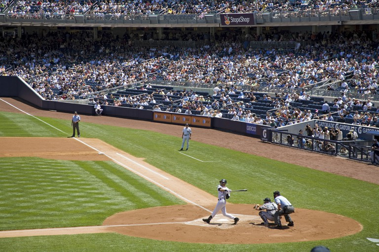 Derek Jeter at bat, Yankee Stadium (New), The Bronx, New York City, USA.