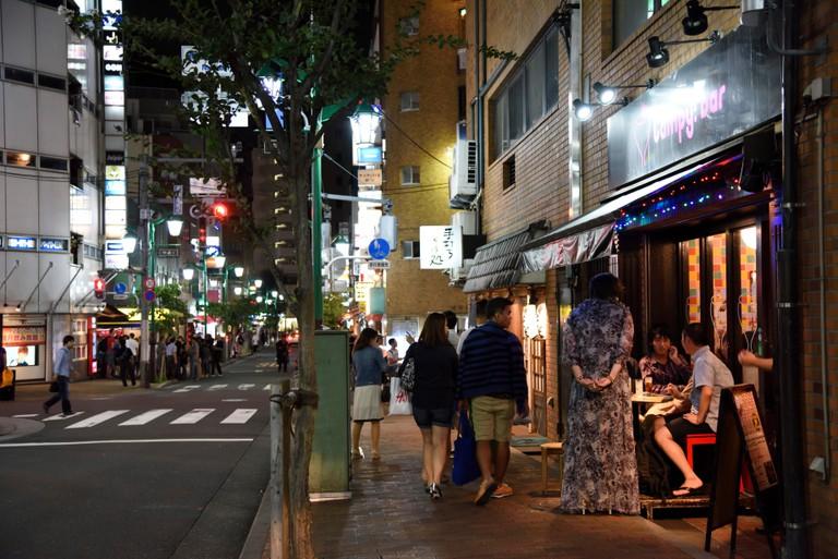 Bar in Shinjuku Ni-chome, Shinjuku, Tokyo, Japan.