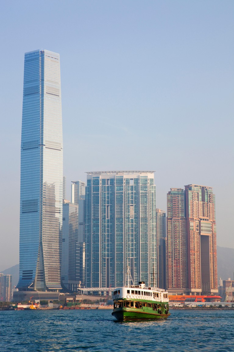 The International Commerce Centre in West Kowloon is Hong Kong's tallest building