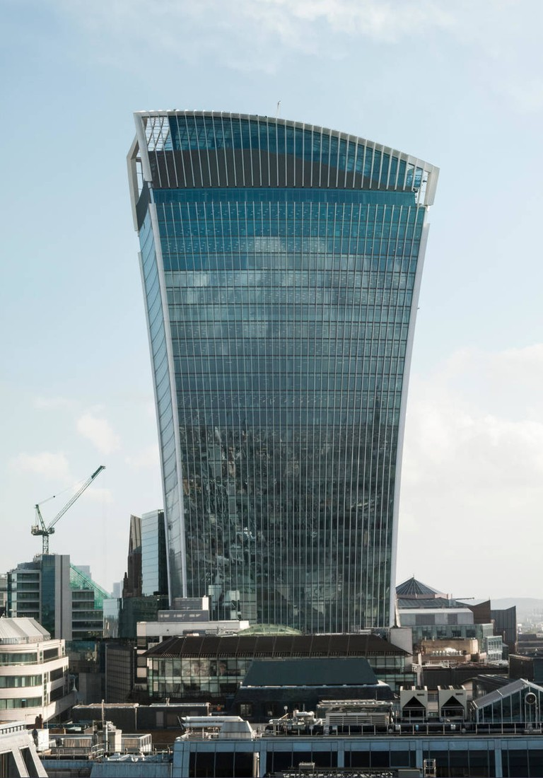 London City skyline with the Walkie Talkie building, 20 Fenchurch Street EC3 in the CIty of London