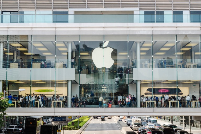 Apple Store, ifc Mall, Finance St, Central, Hong Kong, China. Image shot 10/2014. Exact date unknown.