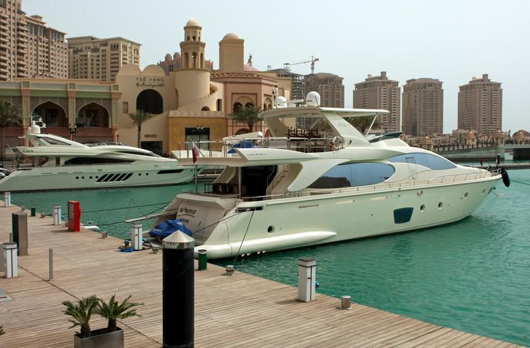Marina Porto Arabia in the residential area The Pearl, Doha, Qatar