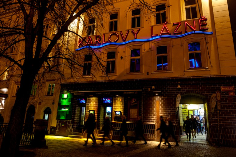 Karlovy Lazne nightclub in old town Stare Mesto Prague