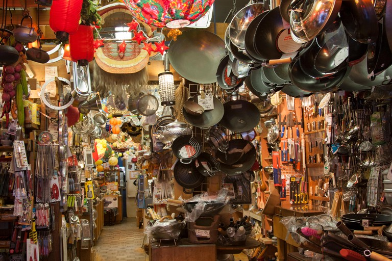 Wok Shop on Grant Avenue in Chinatown, San Francisco, California