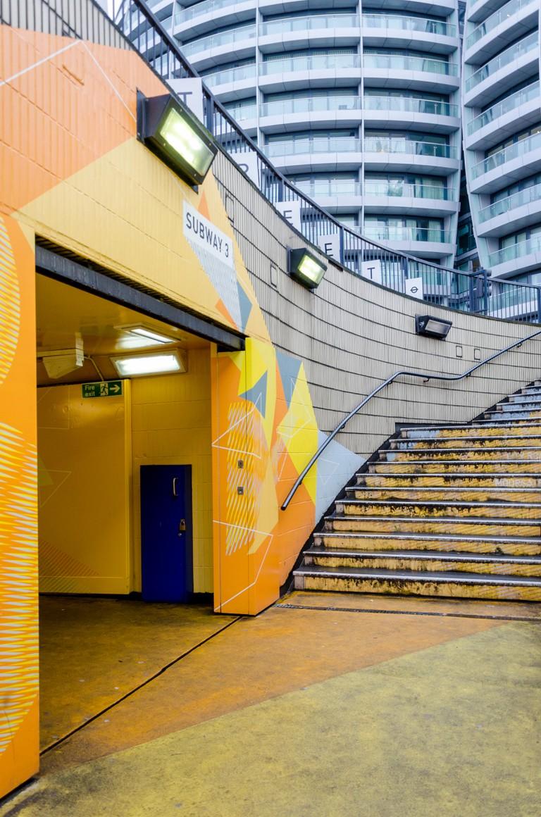 Old Street roundabout subway underpass, London, UK