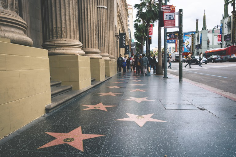 The Hollywood Walk of Fame, Los Angeles, California.