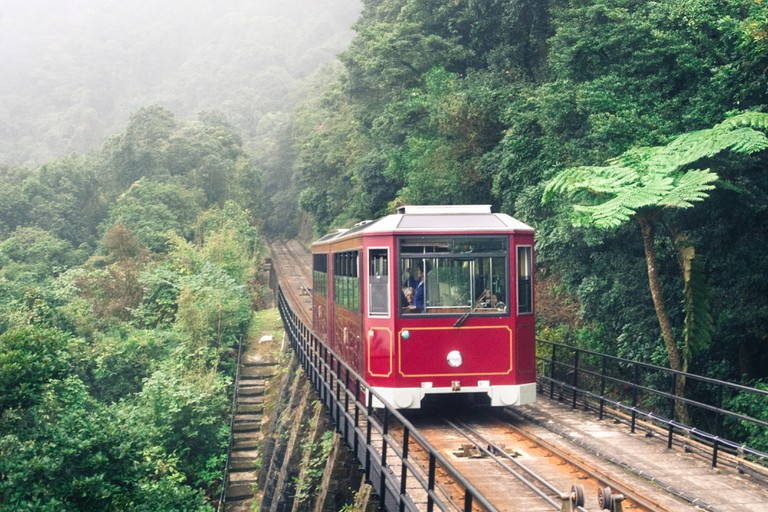 Peak tram in Hong Kong, one of the popular destinations.