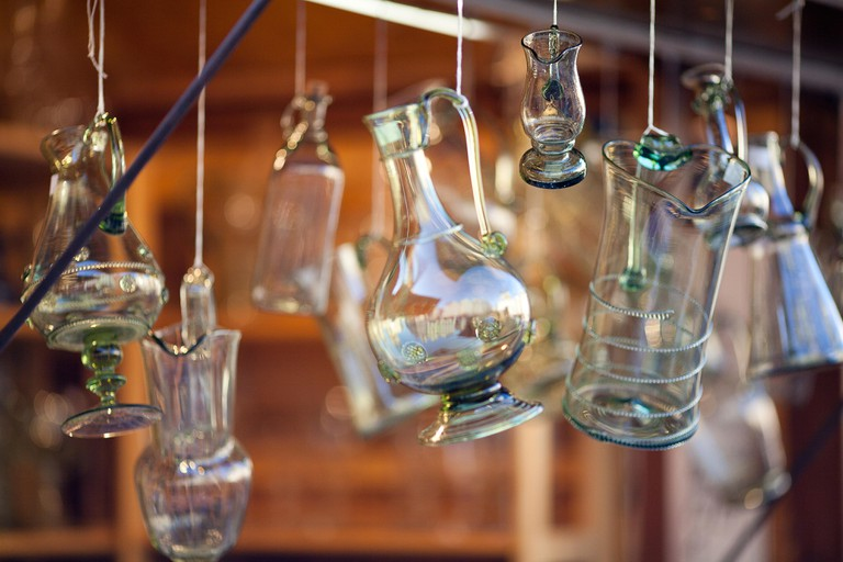 Bohemian glass decanters make beautiful souvenirs