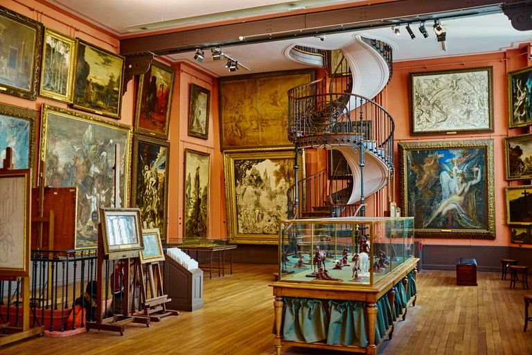The Gustave Moreau museum features this famous winding staircase