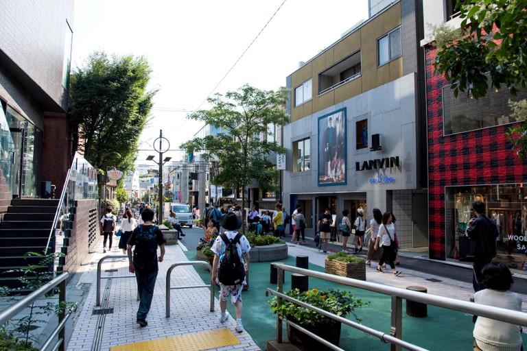 Street scene of Uraharajuku,Shibuya-Ku,Tokyo,Japan