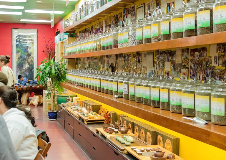 A chinese tea shop in Chinatown, San Francisco, California