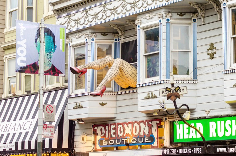 Vintage shops and boutiques in Haight Ashbury, San Francisco.