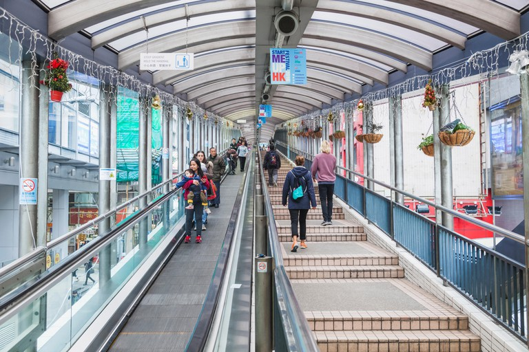 Using the Central-Mid-Levels Escalator is one of the world's most unique urban experiences