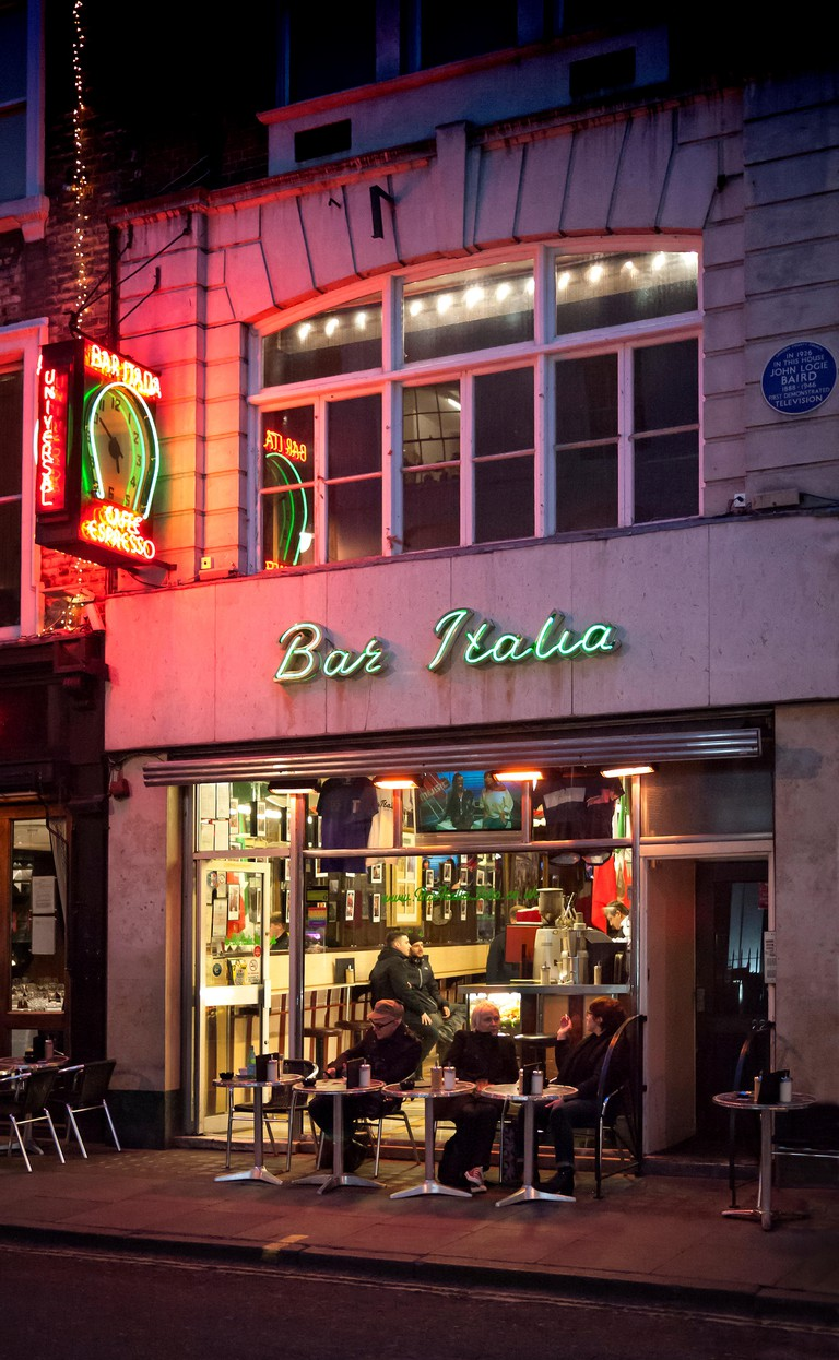 Bar Italia in Frith St Soho London W1 UK