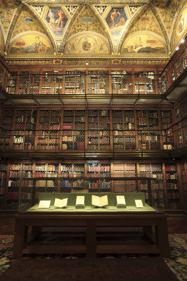 The historic Mr.Morgan's Library in the Morgan Library & Museum, Manhattan, New York City, USA.