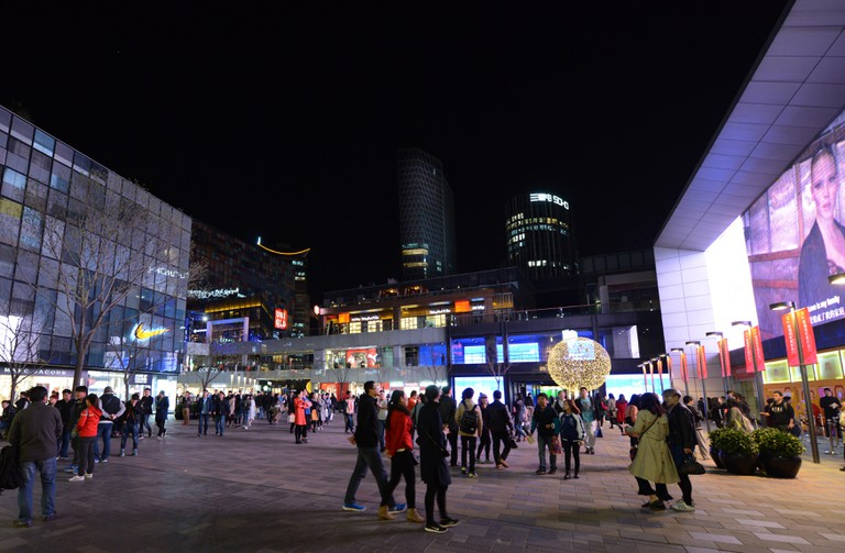 Sanlitun or Taikoo Li shopping center at night