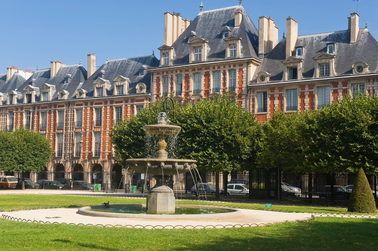 Place des Vosges, Le Marais area, Paris, France.