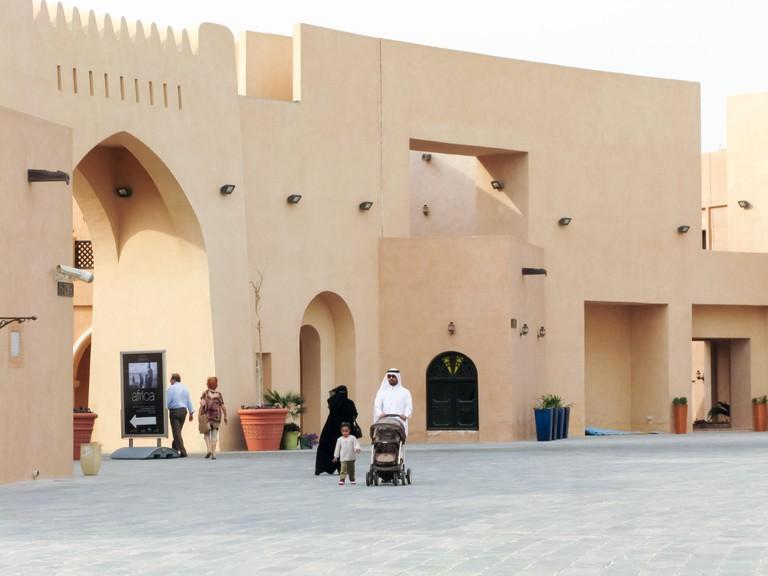 People walking in Katara Cultural Village, Doha, Qatar
