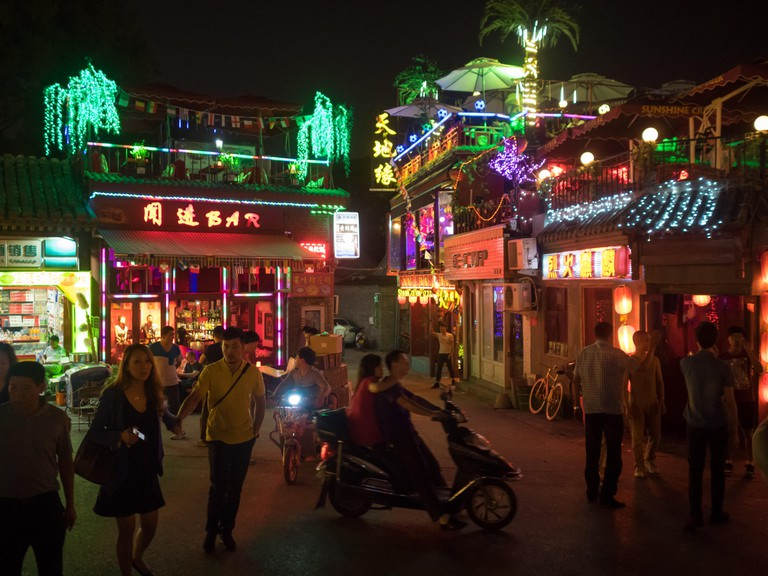 Nightlife in Beijing, China.