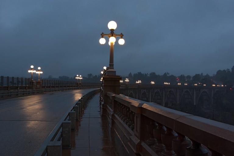 Colorado Street Bridge in Pasadena, California.