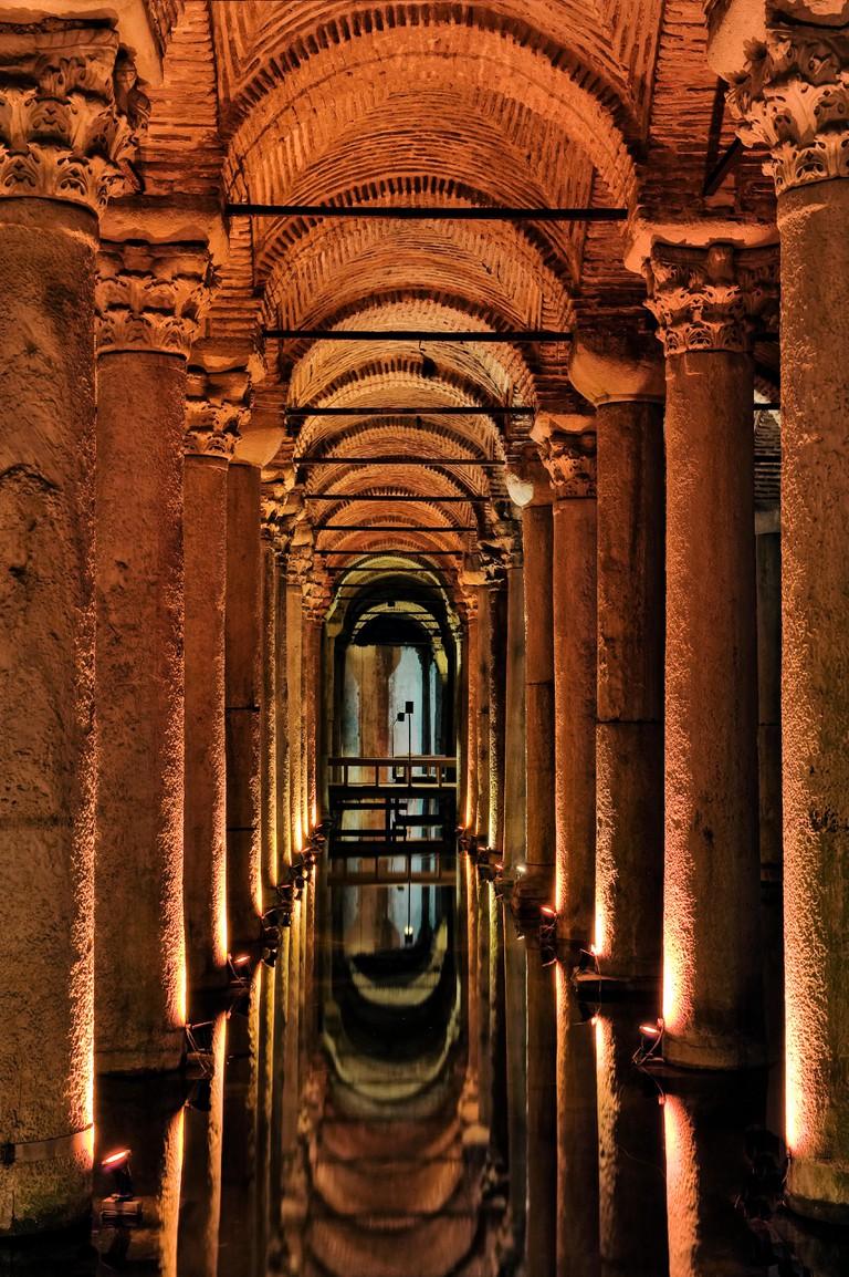 The Basilica Cistern,Yerebatan Istanbul Turkey