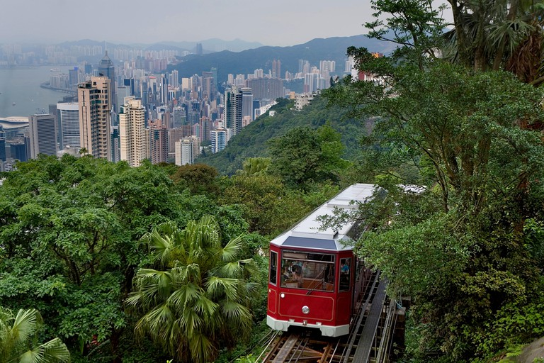 Riding the Peak Tram is a quintessential Hong Kong experience