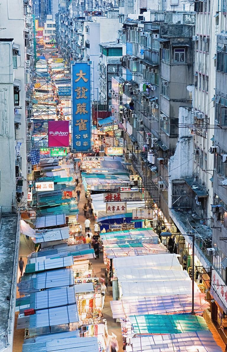 Temple Street Night Market, Kowloon, Hong Kong.