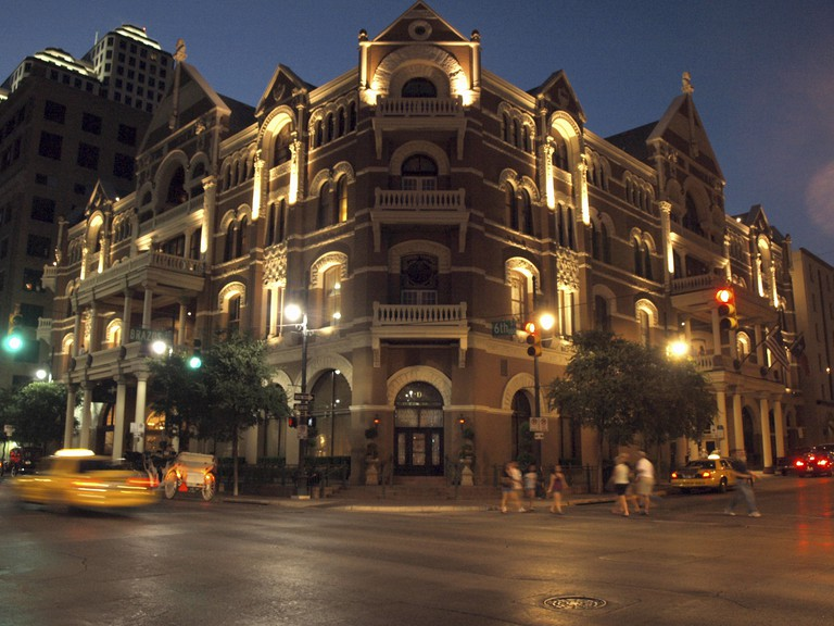 Historic Driskill Hotel, opened in 1886 in Austin, Texas.