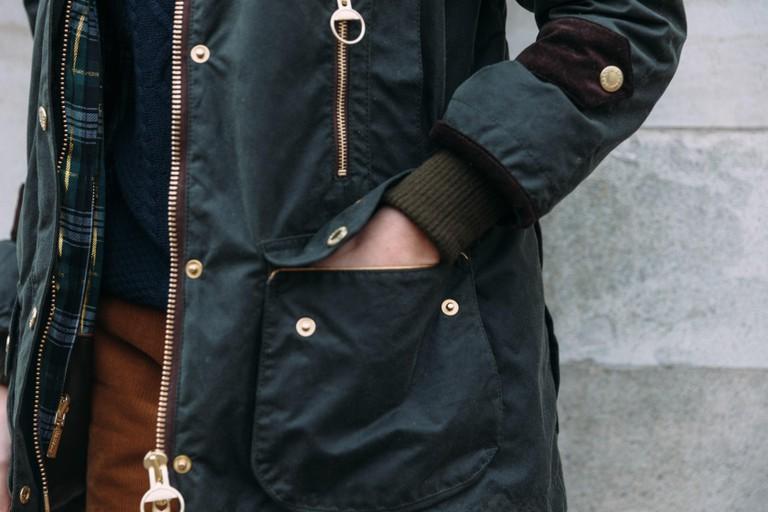 Barbour jacket details